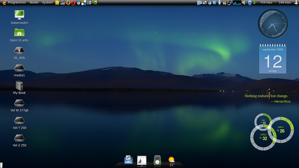 Linux Mint Cinnamon (similar to Windows) 32/64 bit