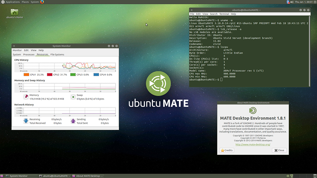 Linux Ubuntu Mate OS Bootable Boot USB Flash Thumb Drive